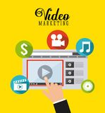 Video marketing design Royalty Free Stock Photography