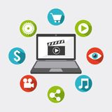 Video marketing design Royalty Free Stock Photos