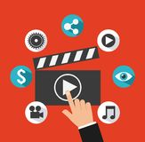 Video marketing design Stock Images