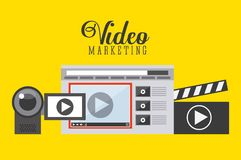 Video marketing design Royalty Free Stock Images