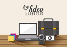 Video marketing design Stock Photography