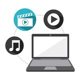 Video marketing design Royalty Free Stock Photo