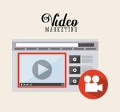 Video marketing design Stock Photo