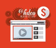 Video marketing design Stock Photos