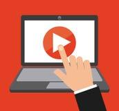 Video marketing design royalty free illustration