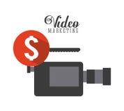 Video marketing design Royalty Free Stock Image