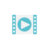 Video marketing flat icon Royalty Free Stock Image