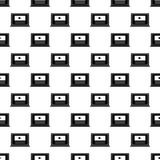 Video marketing icon in Pattern style. On white background Stock Photography