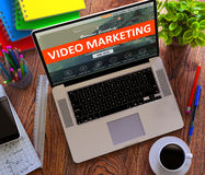 Video Marketing. Internet Working Concept Stock Image