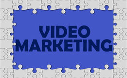 Video marketing with jigsaw border Stock Photography