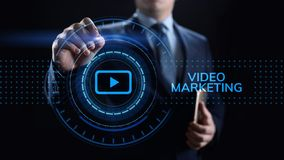 Video marketing online advertising business internet concept. royalty free stock images