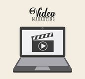 Video marketing ontwerp vector illustratie