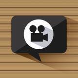 Video marketing ontwerp stock illustratie