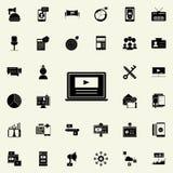 video marketing pictogram Digitaal die marketing voor Web wordt geplaatst en mobiel pictogrammenalgemeen begrip royalty-vrije illustratie