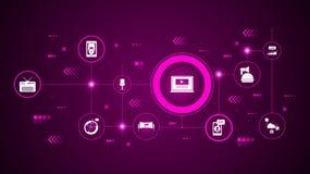 video marketing pictogram Van Digitale Marketing, Bevorderingsreeks vector illustratie