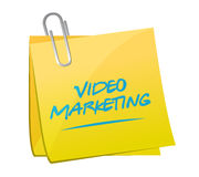 Video marketing post message illustration Royalty Free Stock Image