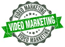 Video marketing seal. stamp. Video marketing round seal isolated on white background. video marketing Royalty Free Illustration