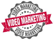 Video marketing seal. stamp. Video marketing round seal isolated on white background Vector Illustration