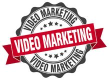 Video marketing seal. stamp. Video marketing round seal isolated on white background Stock Illustration