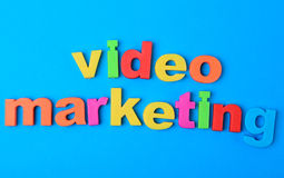 Video Marketing words on background royalty free stock image