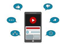 Video Marketing - Youtube Engagement stock illustration
