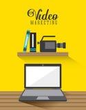 Video marknadsföringsdesign stock illustrationer