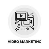 Video marknadsföringslinje symbol vektor illustrationer