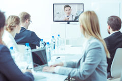 Video medical conference royalty free stock photos