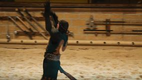 Video of Medieval Times tournament stock video footage
