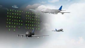 video met vliegtuigen stock footage