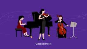 Video metraggio di animazione dei musicisti illustrazione di stock
