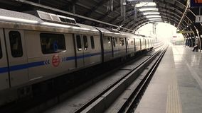 Video of Metro in New Delhi stock video footage