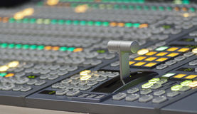 Video mixer console Stock Images