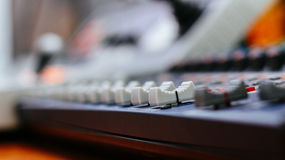 Video mixer control Royalty Free Stock Image