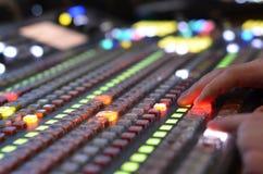 Video mixer use Stock Image