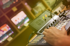 Video mixing panel Royalty Free Stock Photo