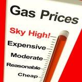 Video molto in alto di prezzi di gas Fotografie Stock
