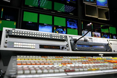 Video montage desk Royalty Free Stock Photography