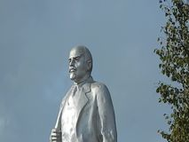 Video of the monument to Vladimir Lenin Ulyanov in the sky. In Russia, in all cities there are monuments to Vladimir Lenin, the first leader of the Soviet stock video