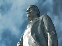 Video of the monument to Vladimir Lenin Ulyanov in the sky. In Russia, in all cities there are monuments to Vladimir Lenin, the first leader of the Soviet stock footage