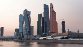 Video Moscow city Moscow International Business Center , Russia Timelapse stock video footage