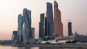 Video Moscow city Moscow International Business Center , Russia Timelapse stock video