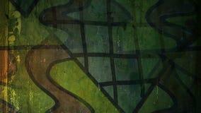 Video motion graffiti contemporary art avant-garde stock video footage