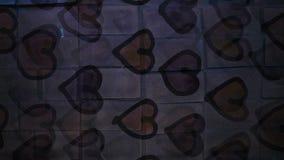Video motion   graffiti heart  pattern ornament stock video footage