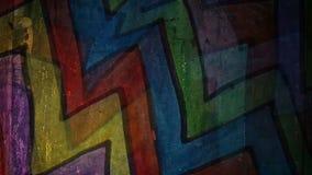 Video  motion graffiti multicolor zigzag line art stock video