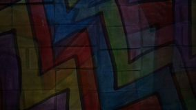 Video  motion  graffiti multicolor zigzag line art stock video footage