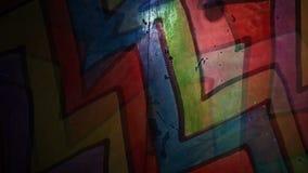 Video  motion  graffiti  multicolor zigzag line stock footage
