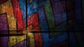 Video  motion  graffiti  multicolor zigzag line stock video footage