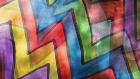 Video  motion  graffiti  multicolor zigzag line stock video