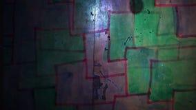 Video  motion  graffiti   square  mesh avant-garde stock footage